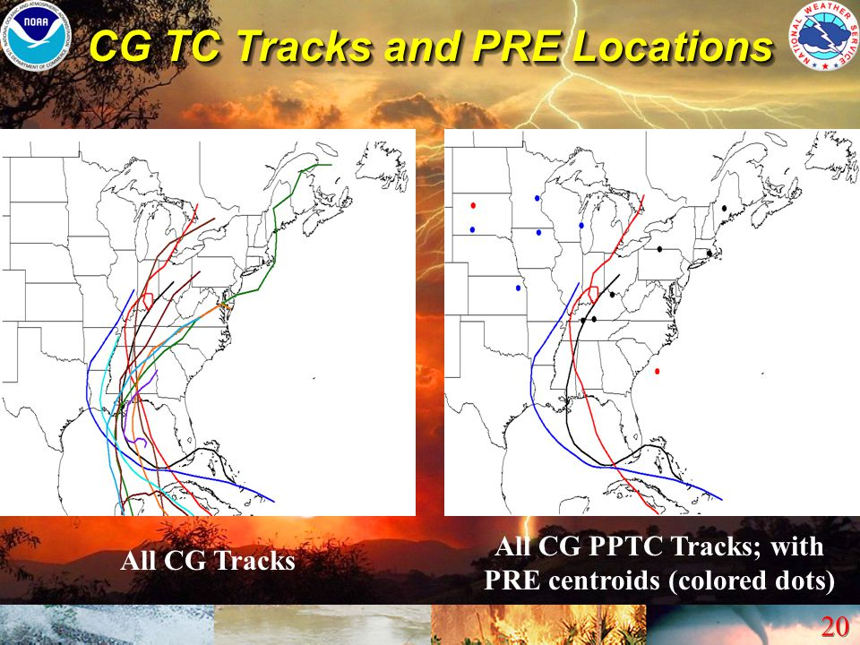 CG TC Tracks and PRE Locations