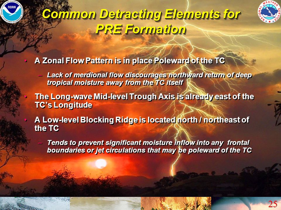Common Detracting Elements for PRE Formation