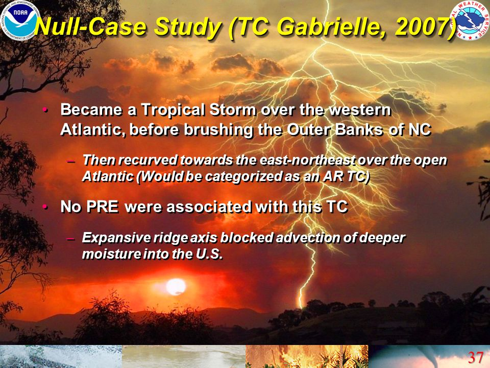 Null-Case Study (TC Gabrielle, 2007)