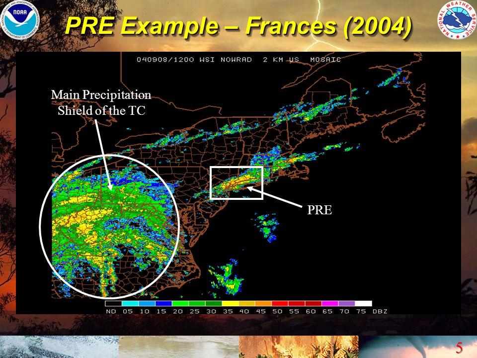 PRE Example – Frances (2004)
