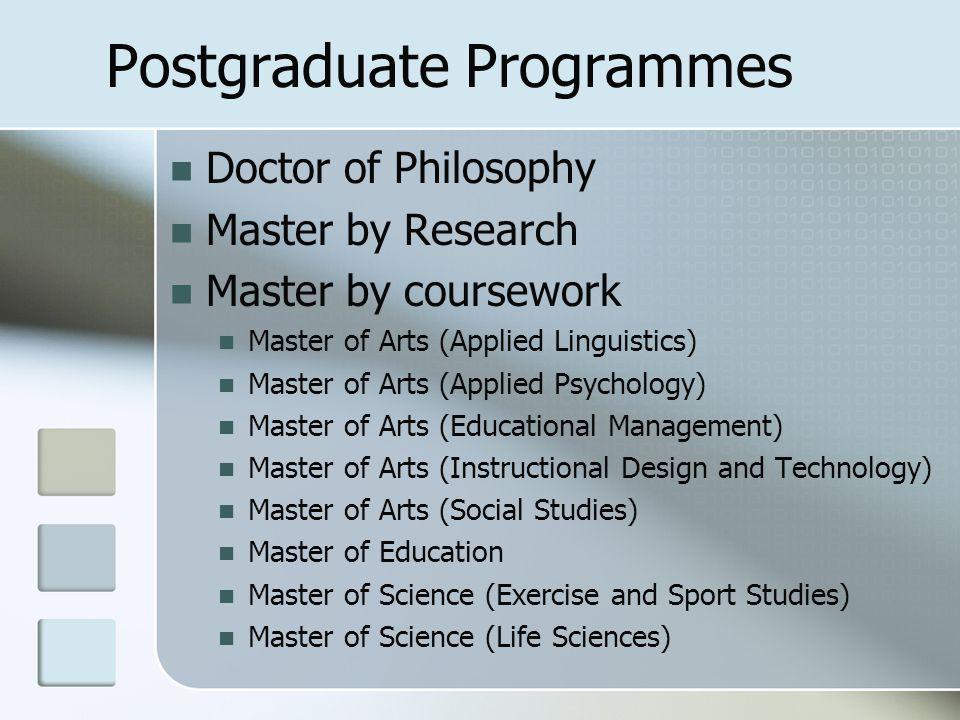 Postgraduate Programmes