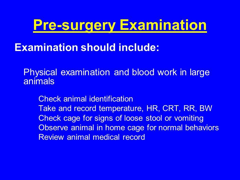 Pre-surgery Examination