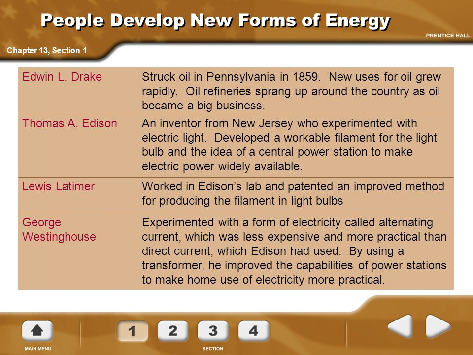 People Develop New Forms of Energy