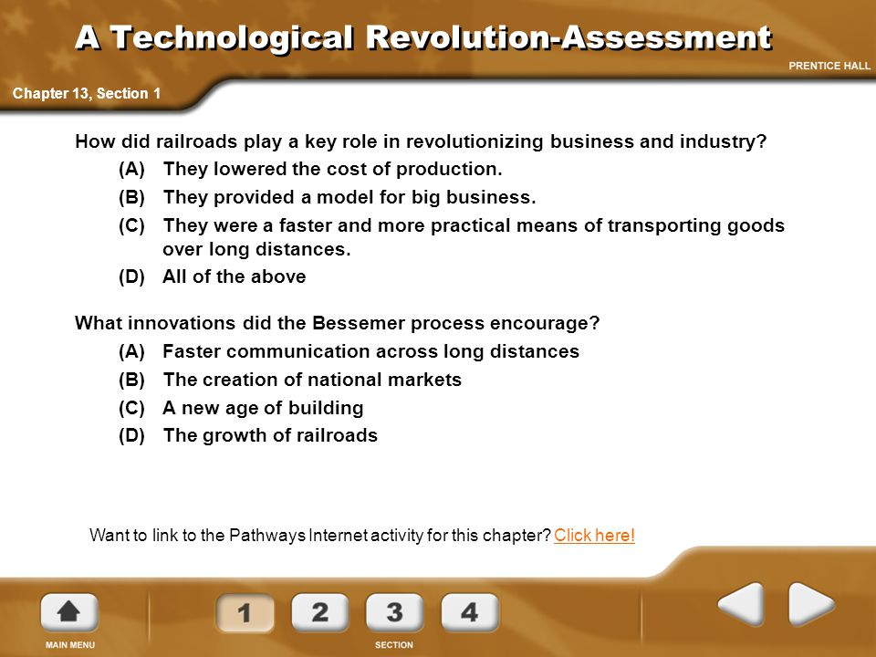 A Technological Revolution-Assessment