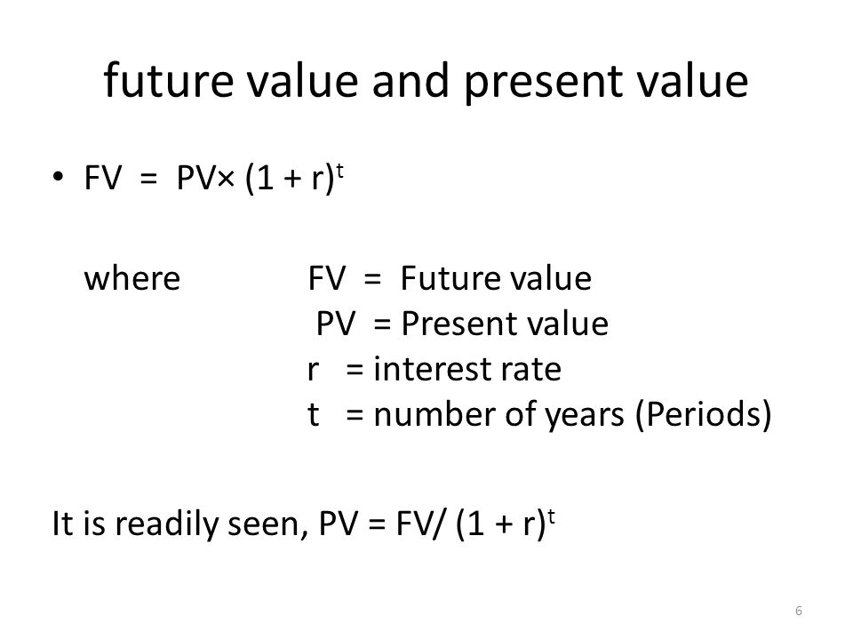 future value and present value