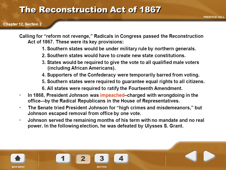 The Reconstruction Act of 1867
