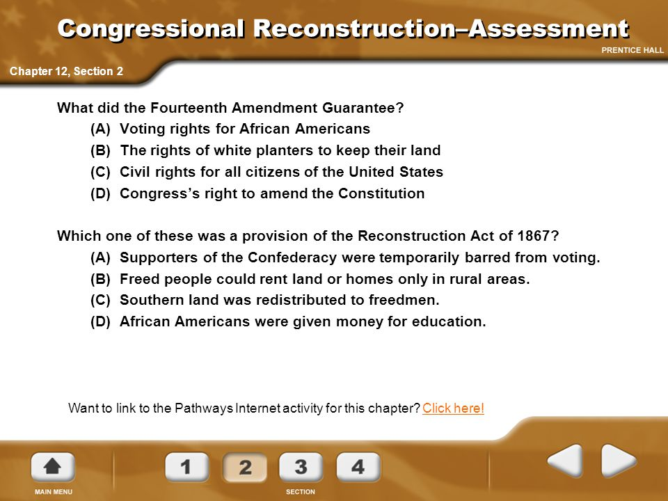 Congressional Reconstruction–Assessment