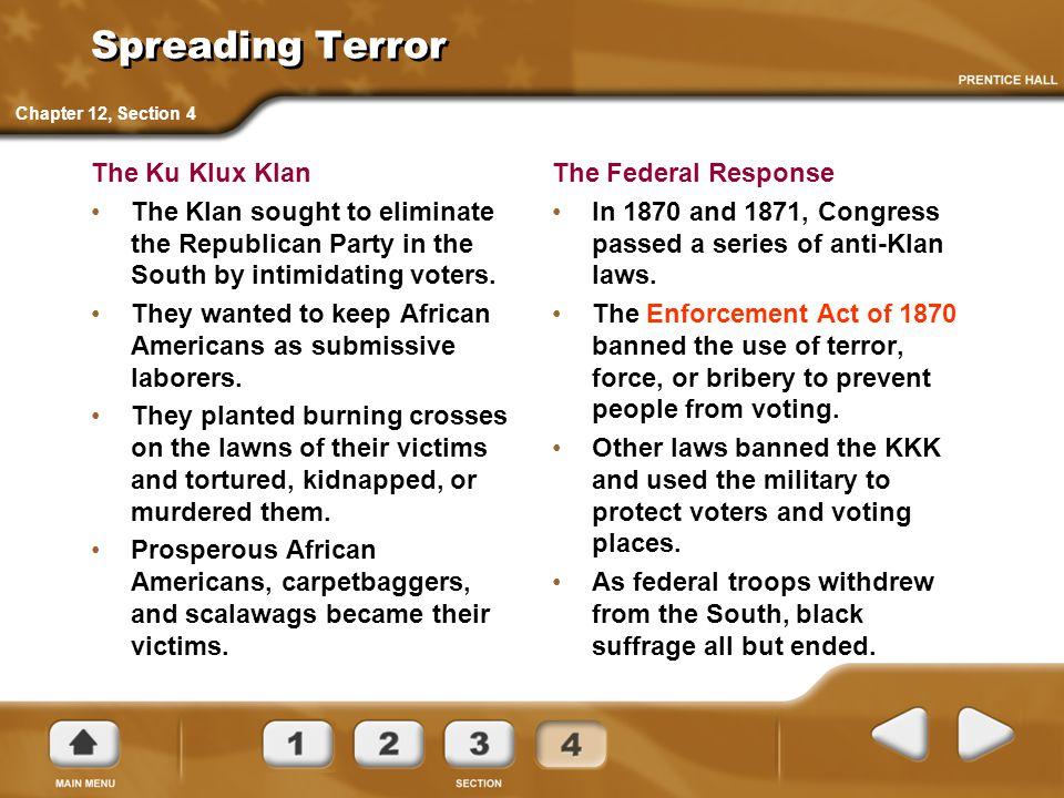 Spreading Terror The Ku Klux Klan