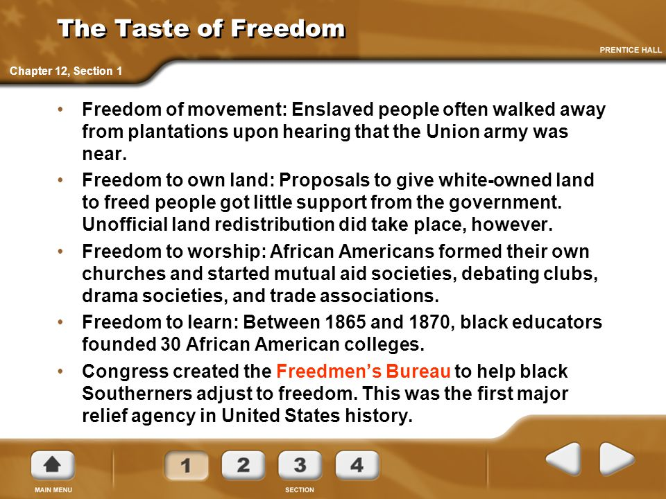 The Taste of Freedom Chapter 12, Section 1.
