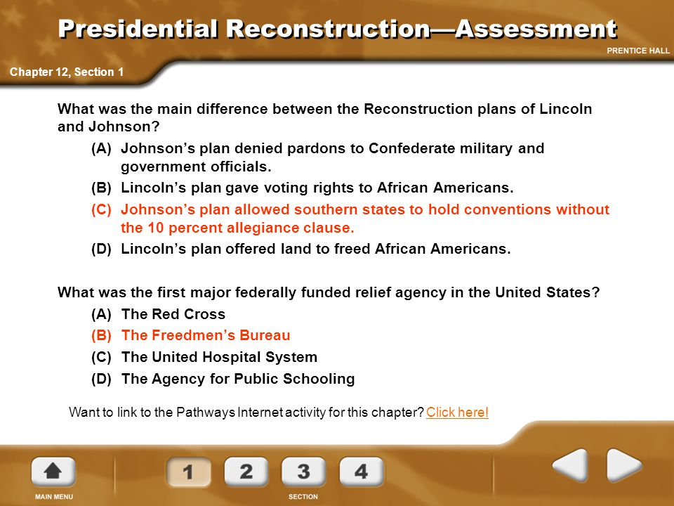 Presidential Reconstruction—Assessment