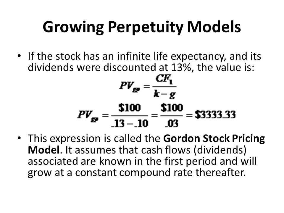 Growing Perpetuity Models