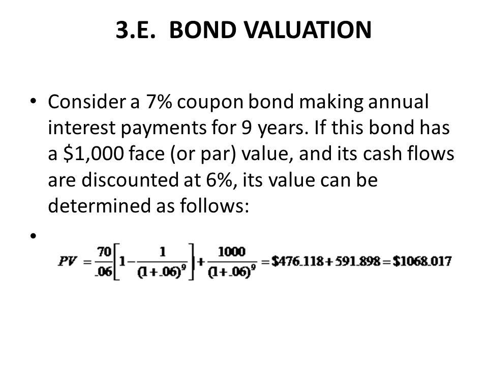 3.E. BOND VALUATION