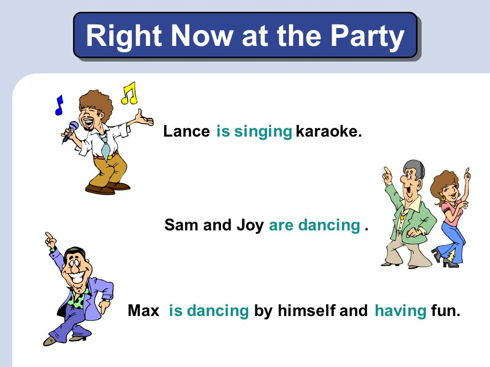 Right Now at the Party Lance karaoke. is singing Sam and Joy .