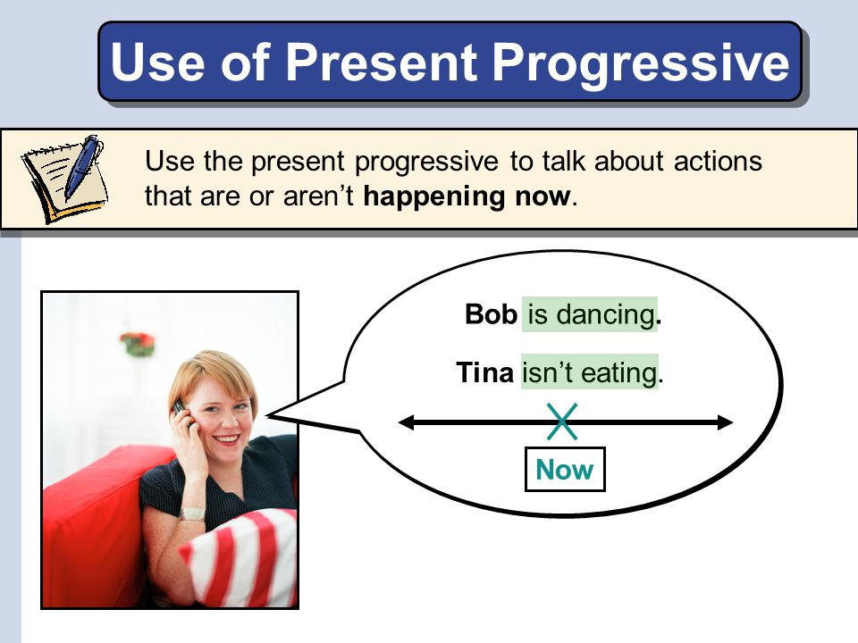 Use of Present Progressive