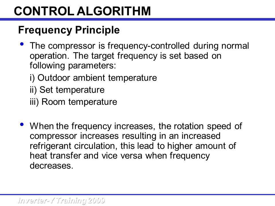 CONTROL ALGORITHM Frequency Principle