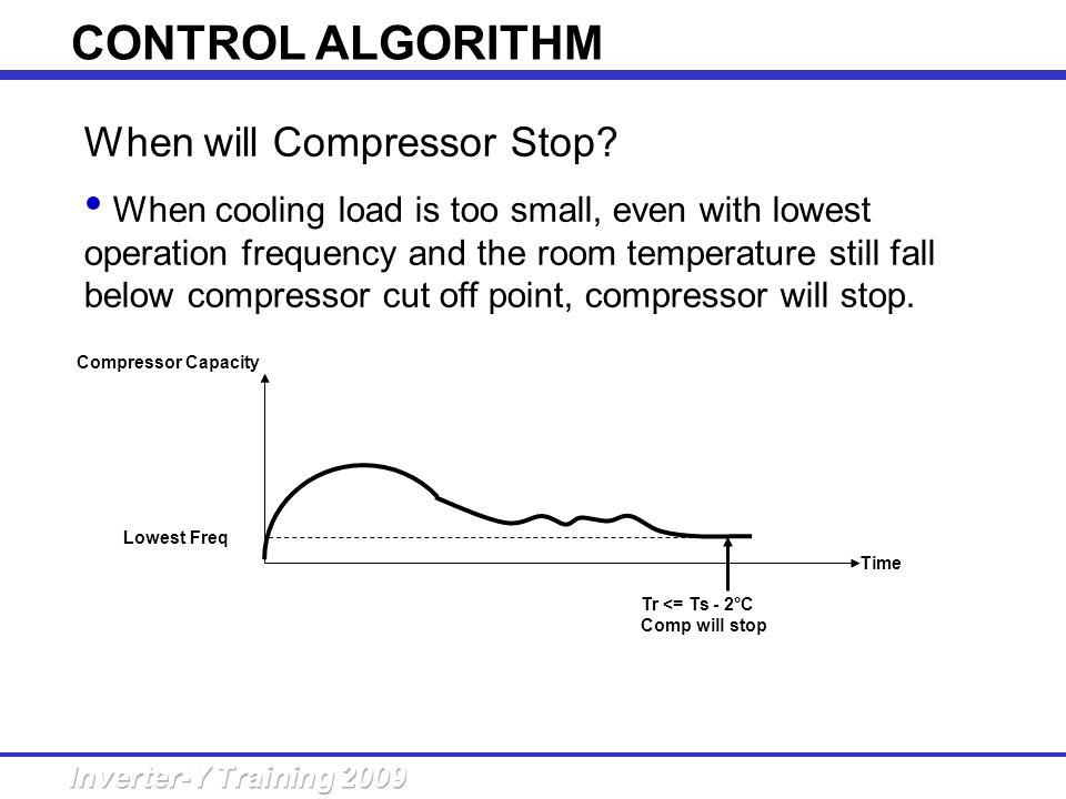 CONTROL ALGORITHM When will Compressor Stop