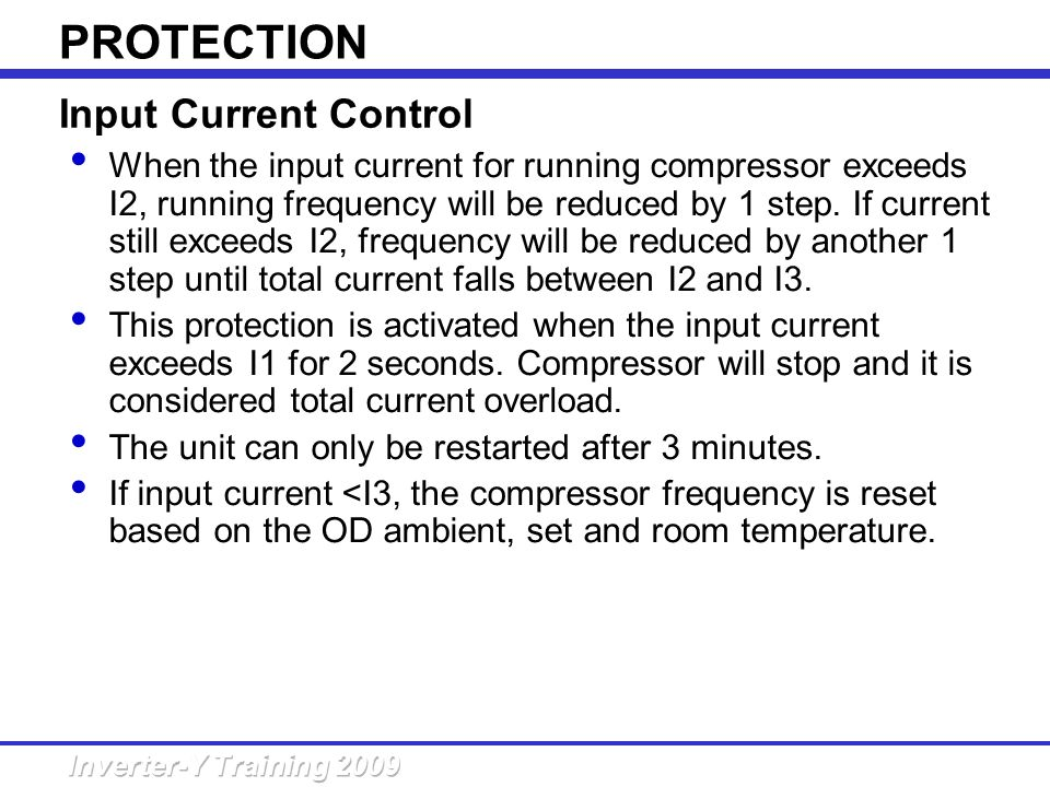 PROTECTION Input Current Control