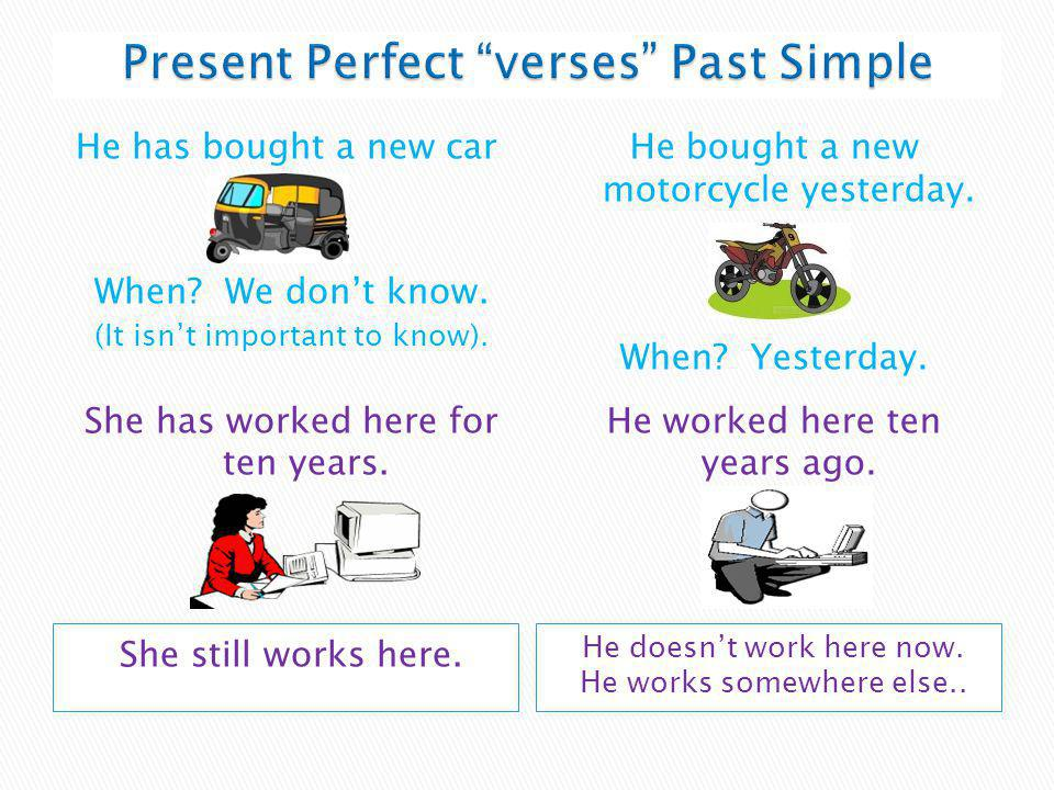 Present Perfect verses Past Simple
