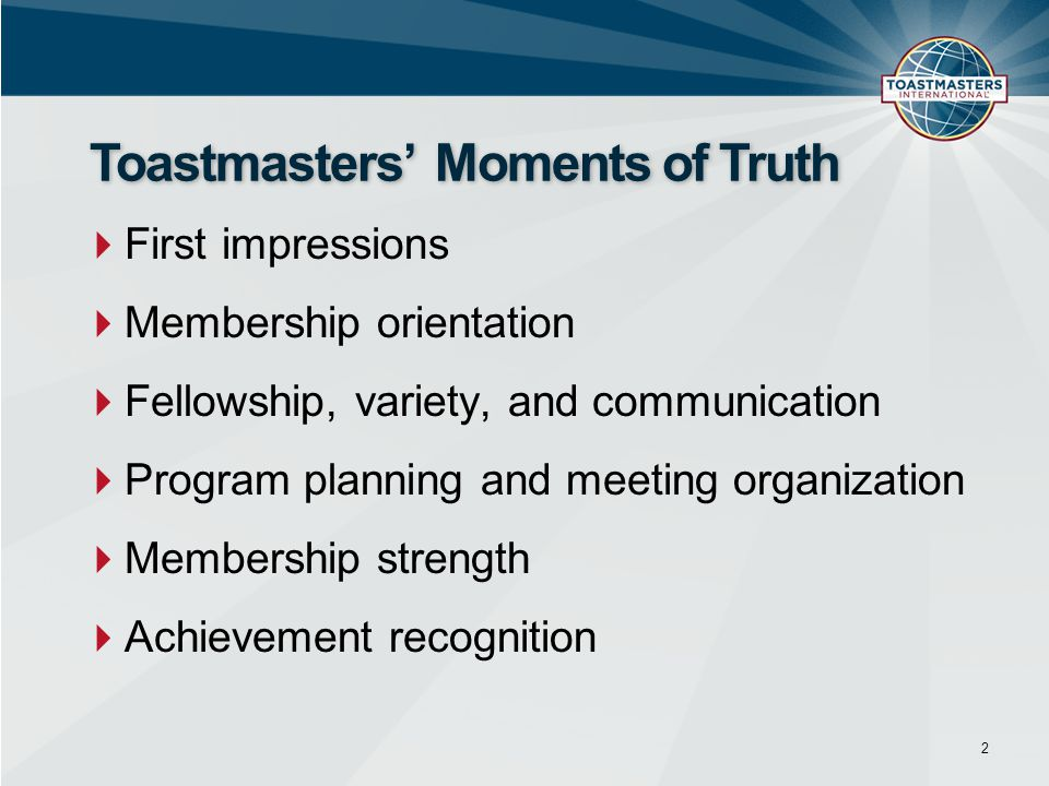 Toastmasters' Moments of Truth