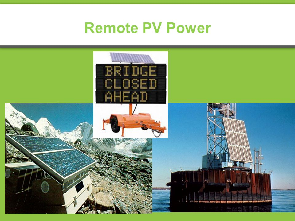 Remote PV Power