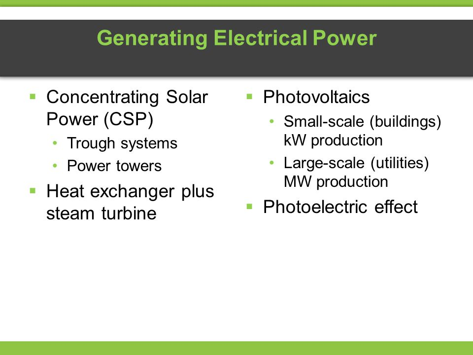 Generating Electrical Power