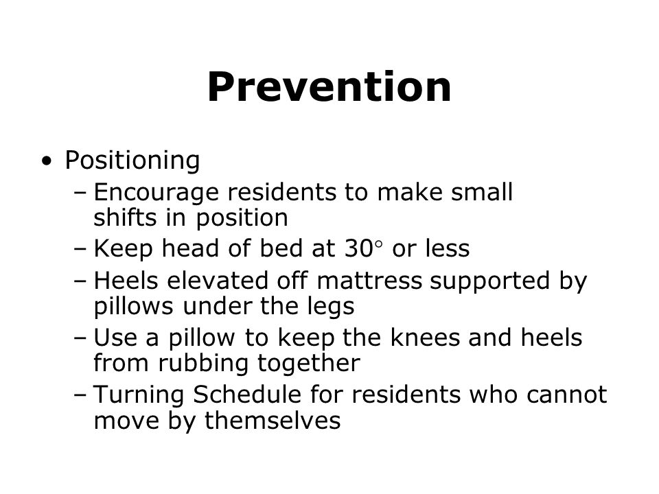 Prevention Positioning