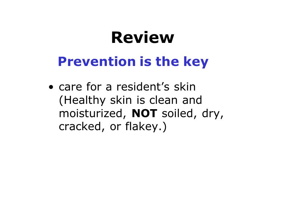 Review Prevention is the key