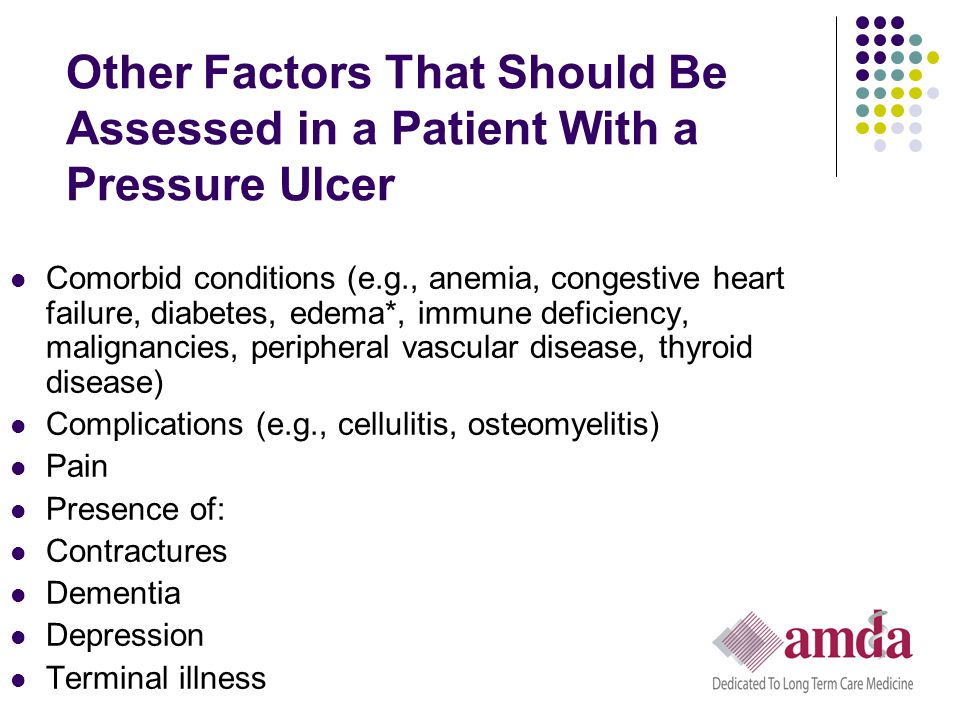 Other Factors That Should Be Assessed in a Patient With a Pressure Ulcer