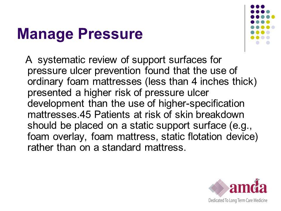Manage Pressure