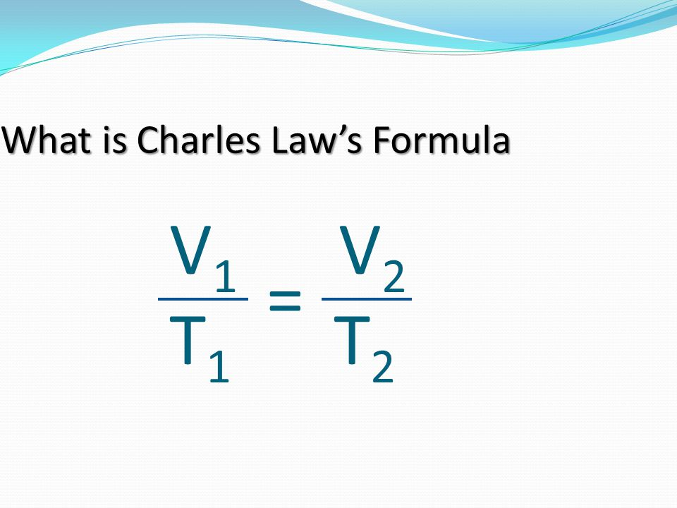 What is Charles Law's Formula