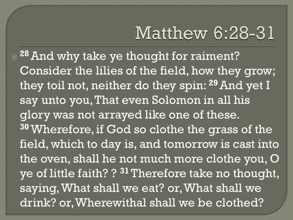 5/5/2013 pm Matthew 6:28-31.