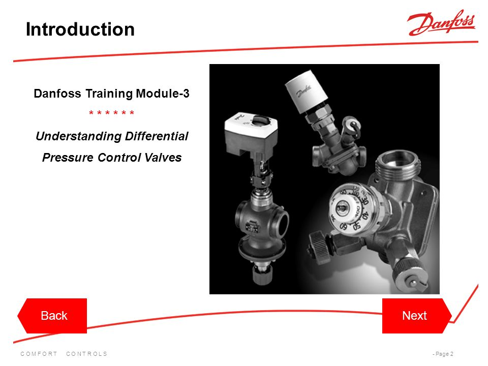 Introduction Danfoss Training Module-3 * * * * * *