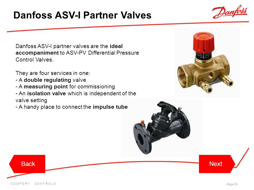 Danfoss ASV-I Partner Valves