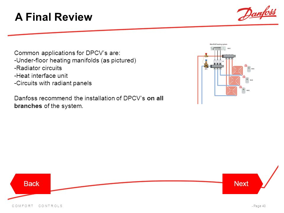 A Final Review Back Back Next Next Common applications for DPCV's are: