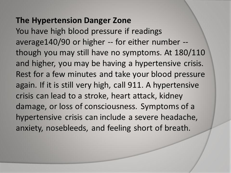 The Hypertension Danger Zone