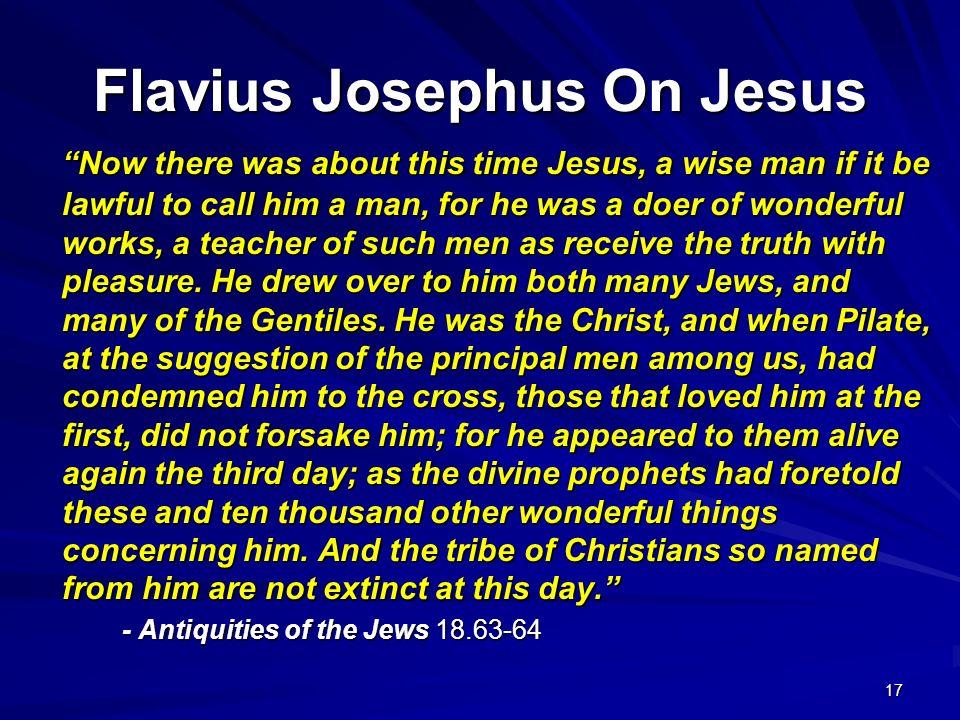 Flavius Josephus On Jesus