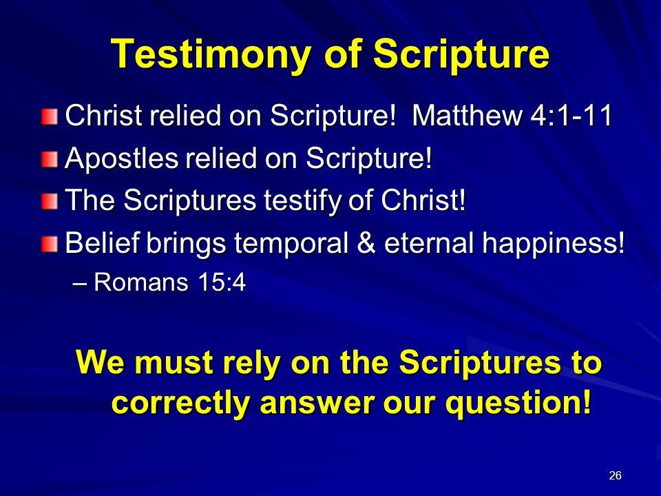 Testimony of Scripture