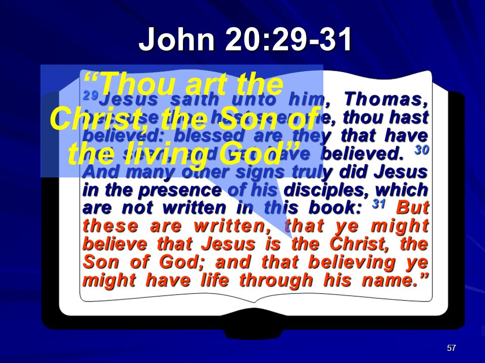 Thou art the Christ, the Son of the living God