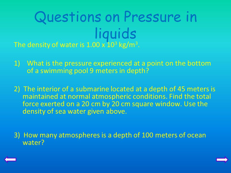 pressure in fluids and atmospheric pressure pdf