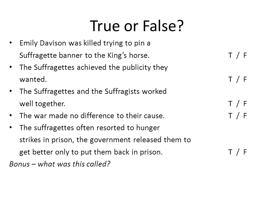 True or False Emily Davison was killed trying to pin a