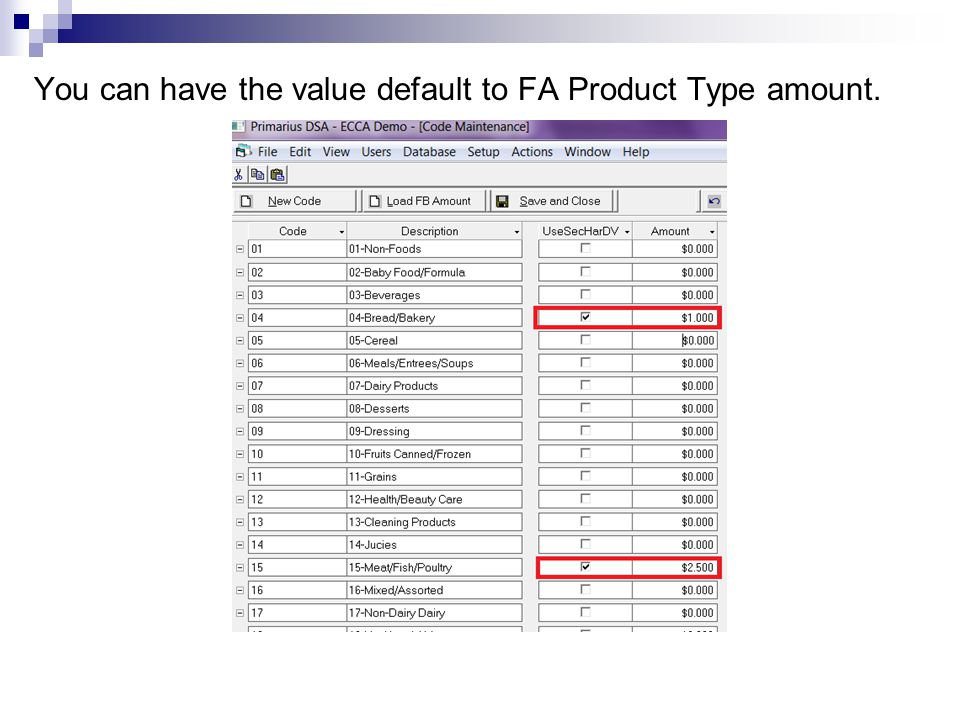 You can have the value default to FA Product Type amount.