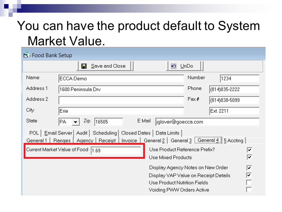 You can have the product default to System Market Value.