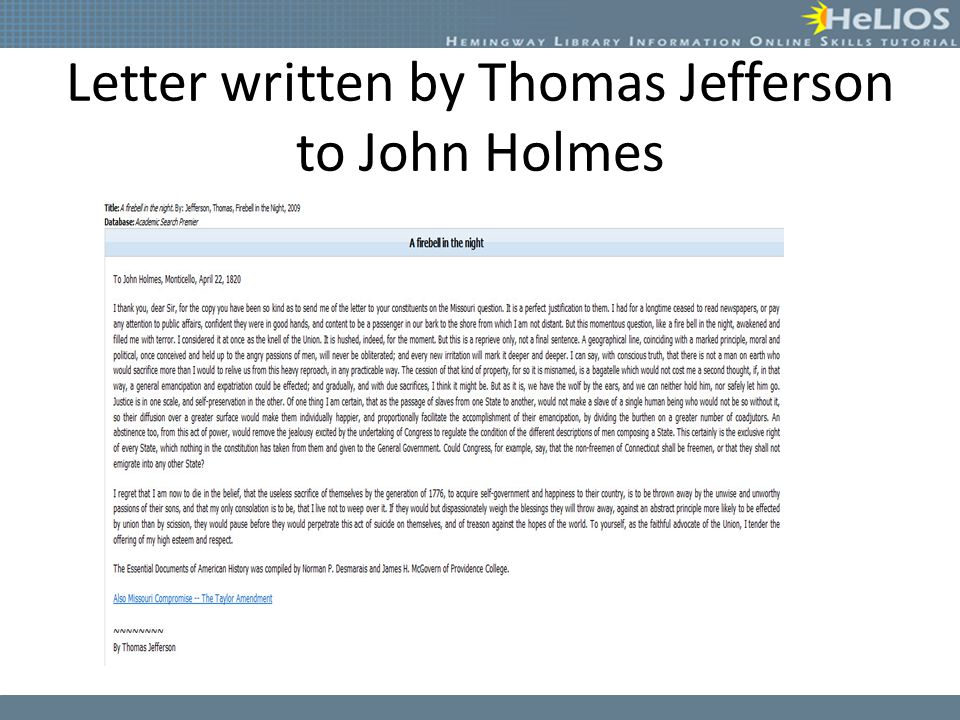 essays written by thomas jefferson
