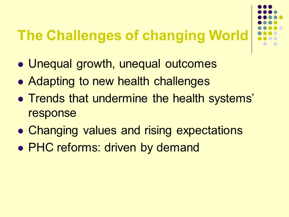 The Challenges of changing World