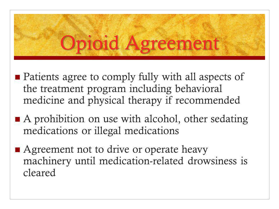 Opioid Agreement