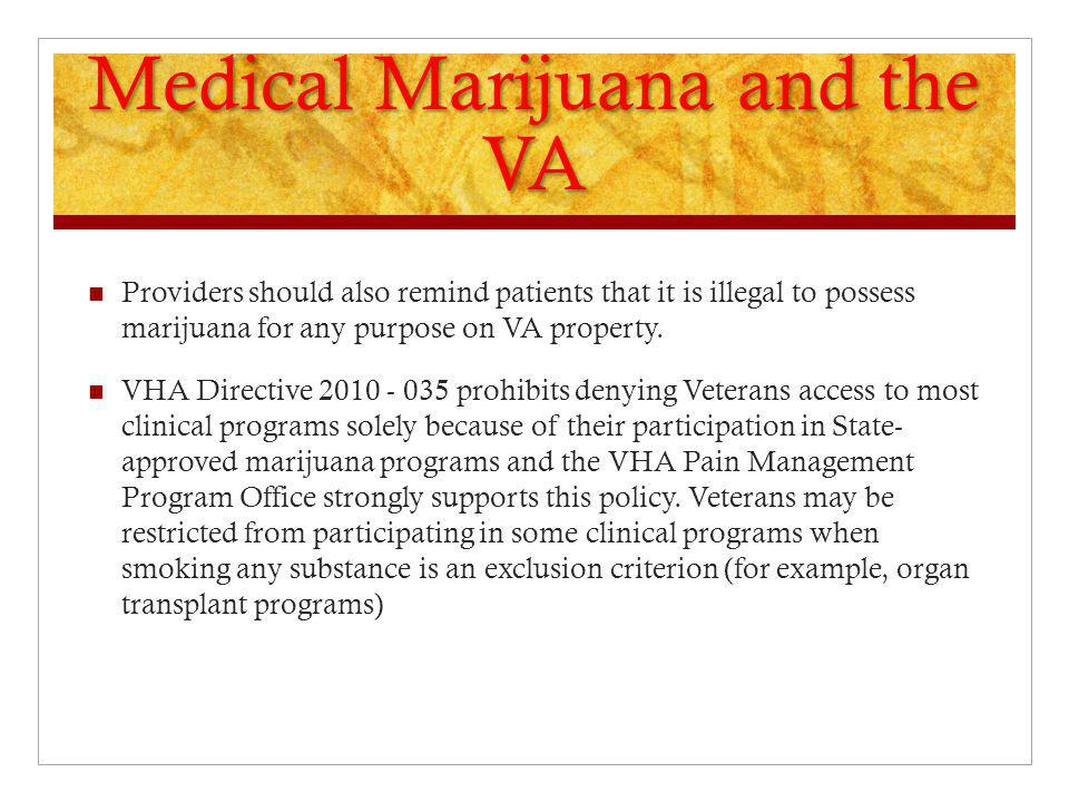 Medical Marijuana and the VA
