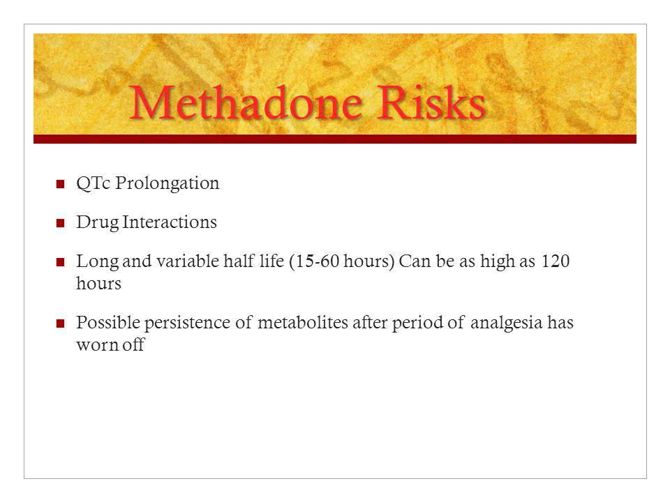 Methadone Risks QTc Prolongation Drug Interactions