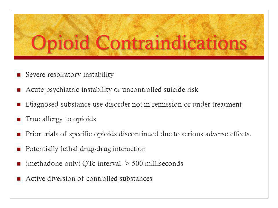 Opioid Contraindications