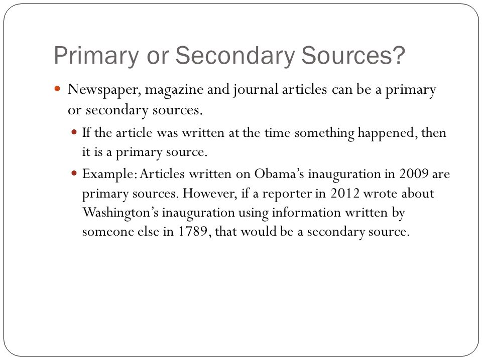 primary reference about article