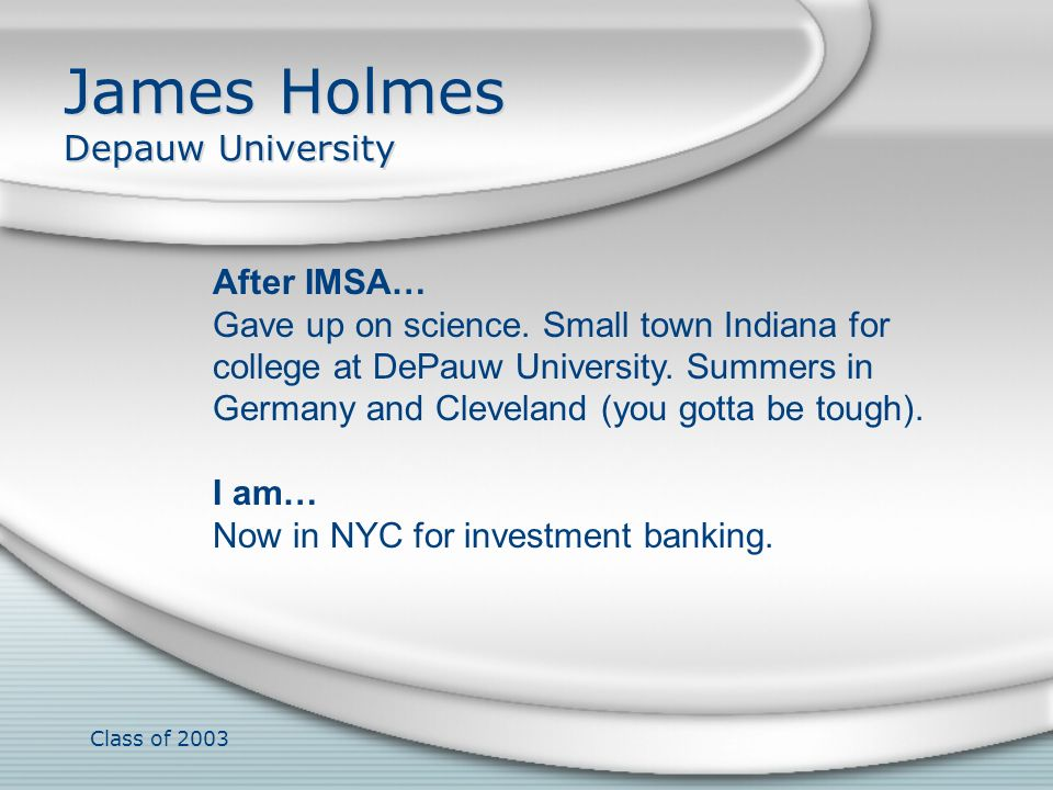 James Holmes Depauw University